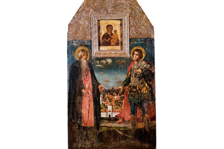 Преподобные Авраамий и Меркурий Смоленские, икона