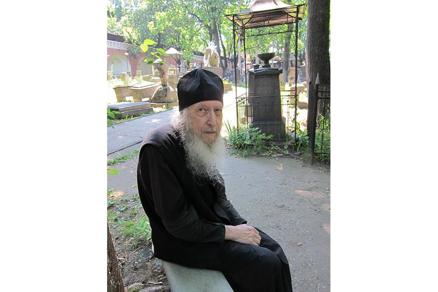 Отец Валентин в Донском монастыре