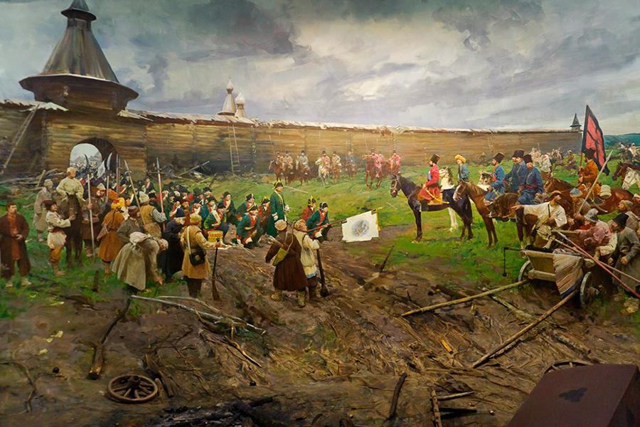 Пугачев у стен Белгородской крепости