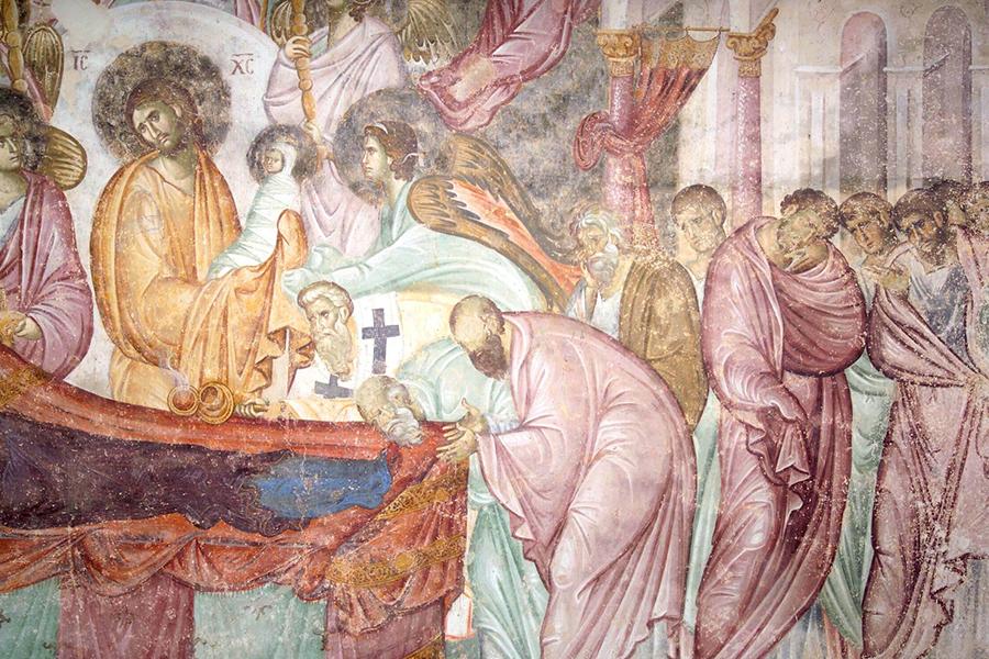 Фреска XIII века в монастыре Сопочаны, Сербия