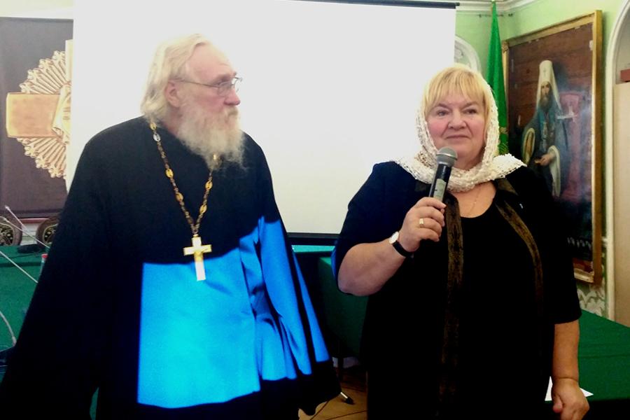 Игумен Киприан (Ященко) и Ирина Ивановна Косинова