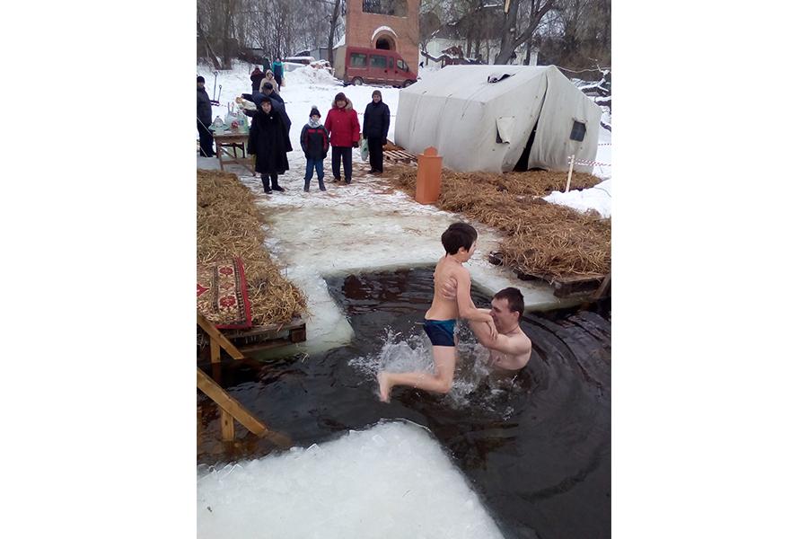 Праздник Крещения Господня в пансионе