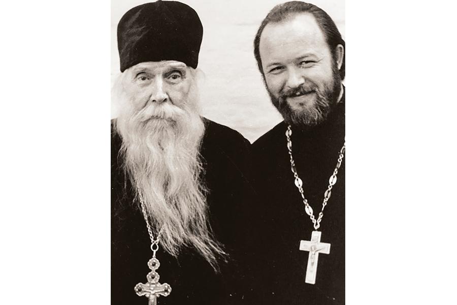 Протоиерей Валериан Кречетов со священником Сергием Орловым