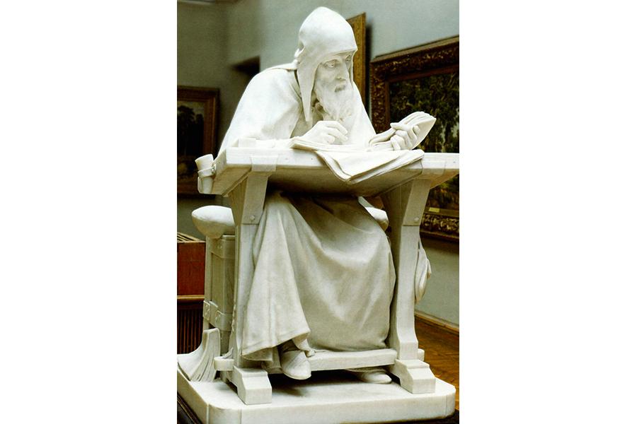Нестор Летописец, скульптура