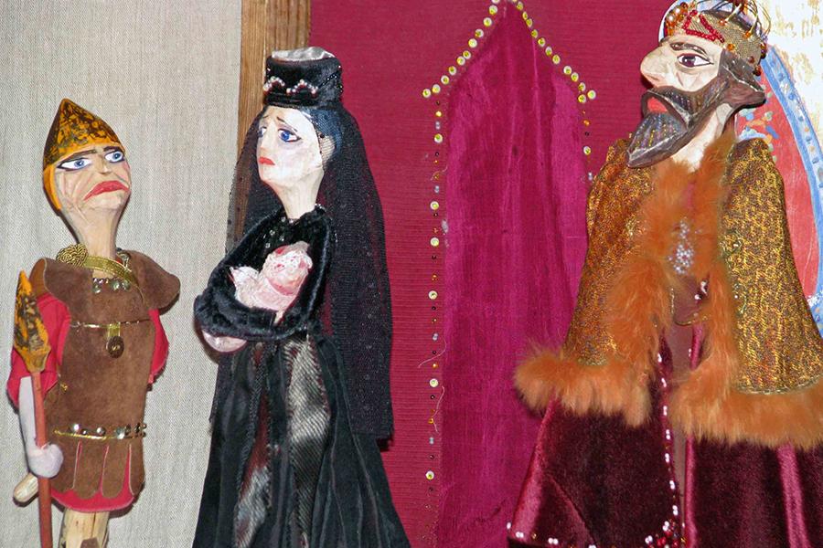 Куклы Рождественского вертепа Рахиль и царь Ирод