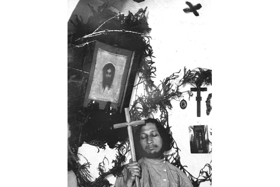 Павел Флоренсмкий в студенческой келье в МДА, 1908 г