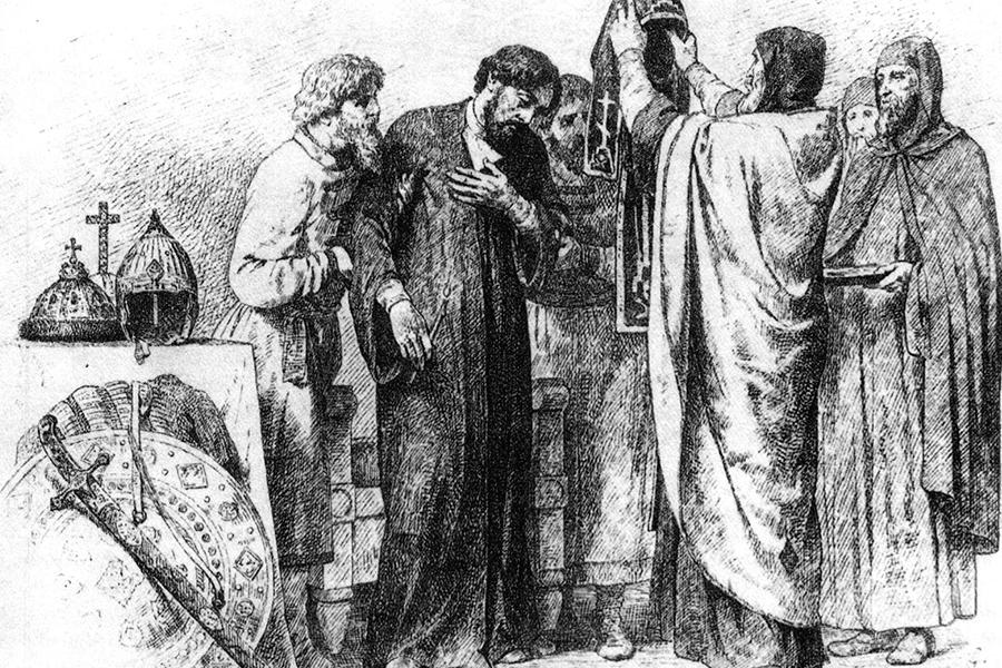 Пострижение в схиму великого князя Александра Невского
