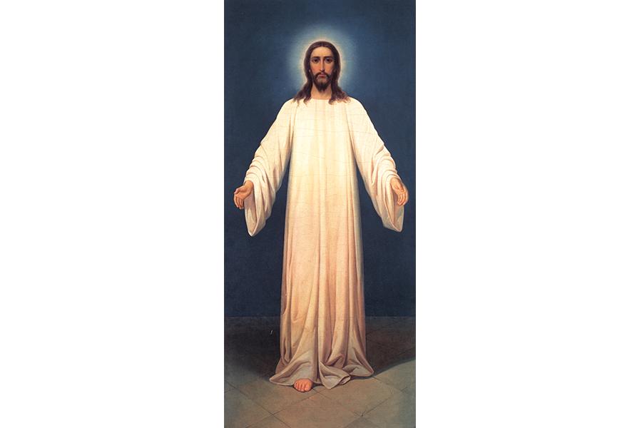 Спаситель в белом хитоне, икона митрополита Серафима (Чичагова)