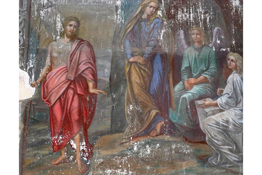 Явления воскресшего Иисуса Христа Магдалине, фреска