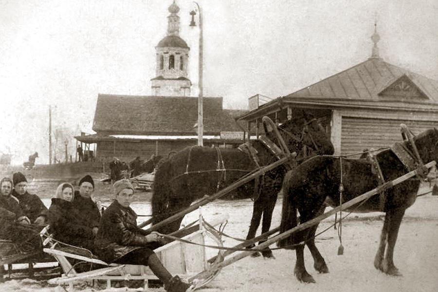 Масленица в Савцыне, 1930 г