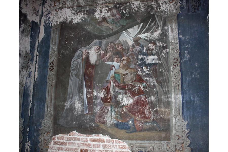 Напутствие князя Михаила Тверского перед кончиной, фреска