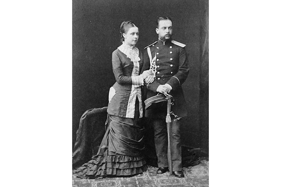 Леонид Михайлович Чичагов с женой