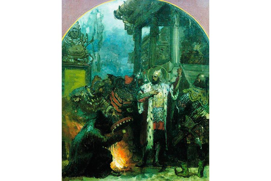 Александр Невский в Орде, с эскиза Генриха Семирадского