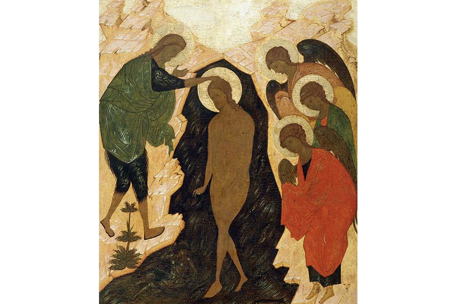 Крещение Господне, древнерусская икона