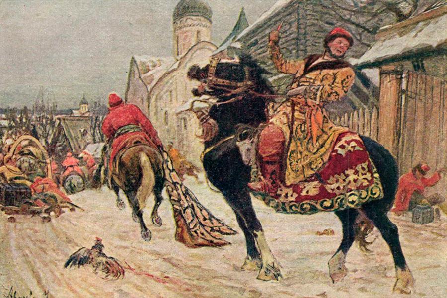 Опричники в Великом Новгороде