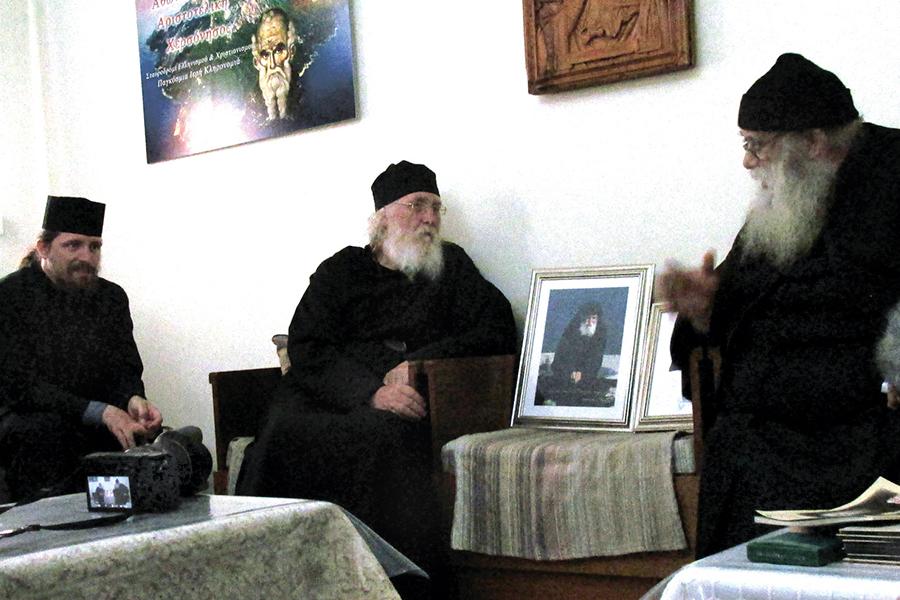 Съемка фильма в святогорском монастыре