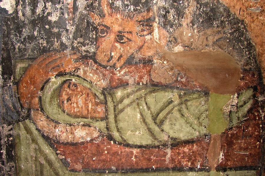 Фрагмент фрески Рождества Христова