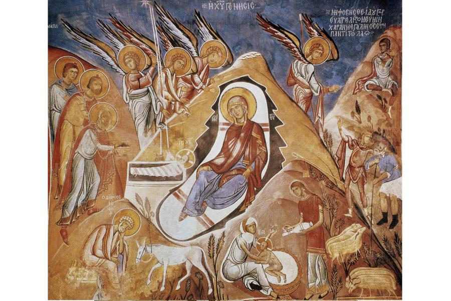 Рождество Христово, фреска