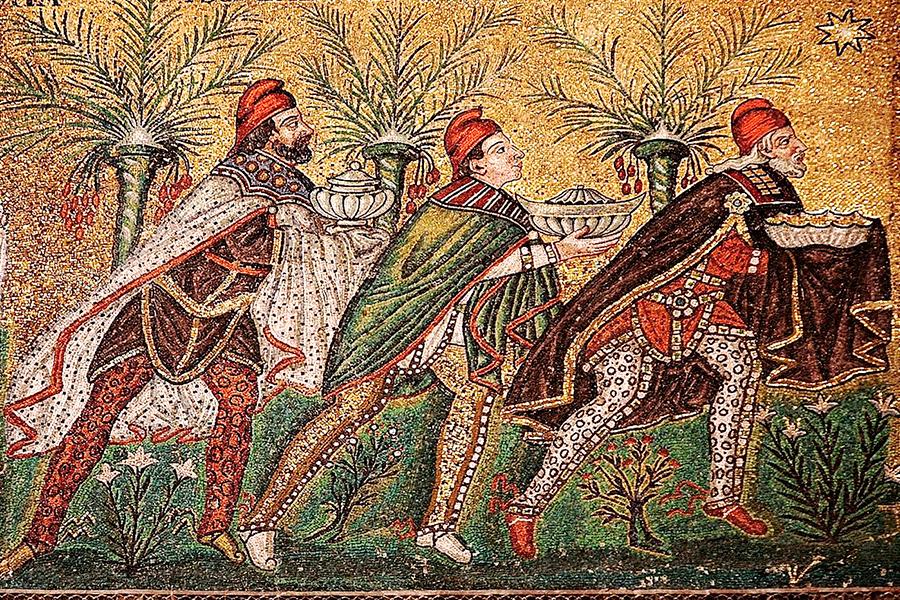 Поклонение волхвов, мозаика
