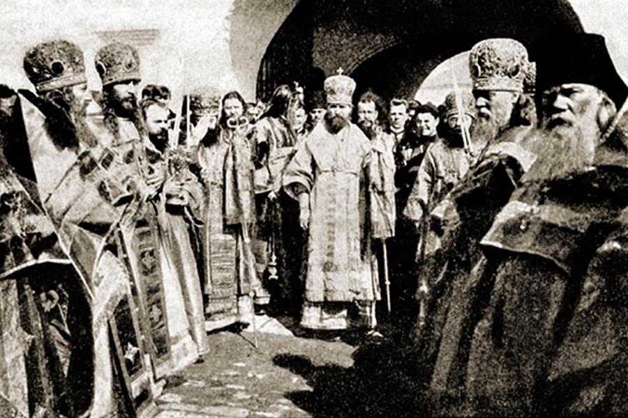 Митрополит Владимир в Лужецком монастыре в 1908 году
