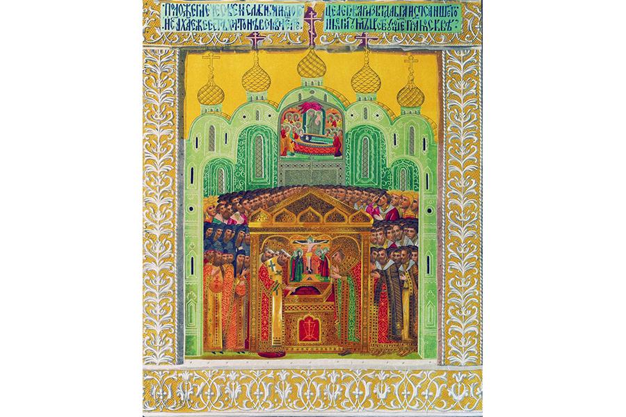 Образ Ризоположения, написанный при царе Михаиле Федоровиче