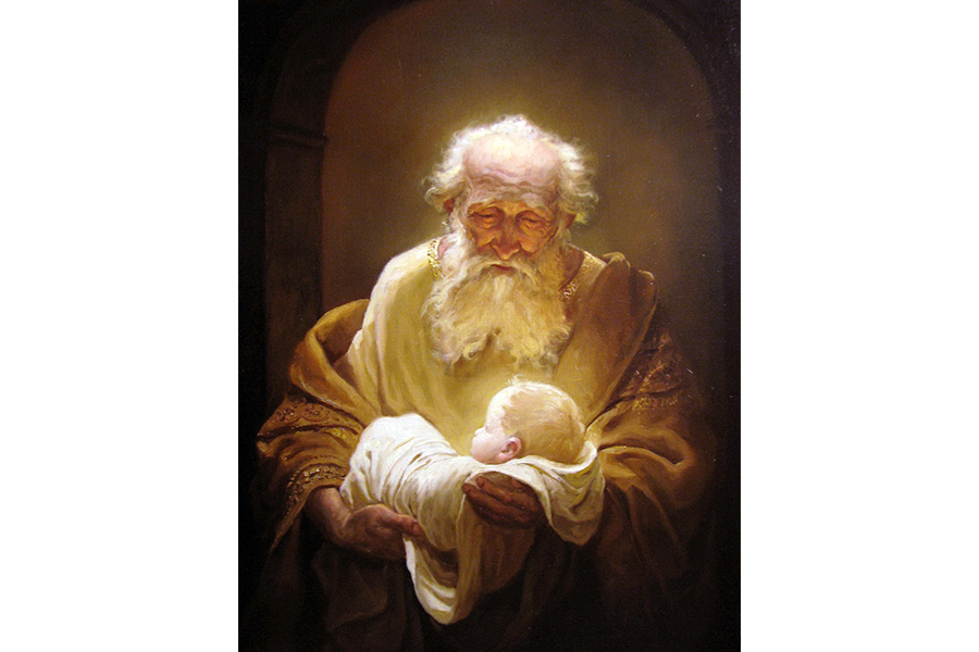 Андрей Алексеевич Шишкин. Симеон и Иисус