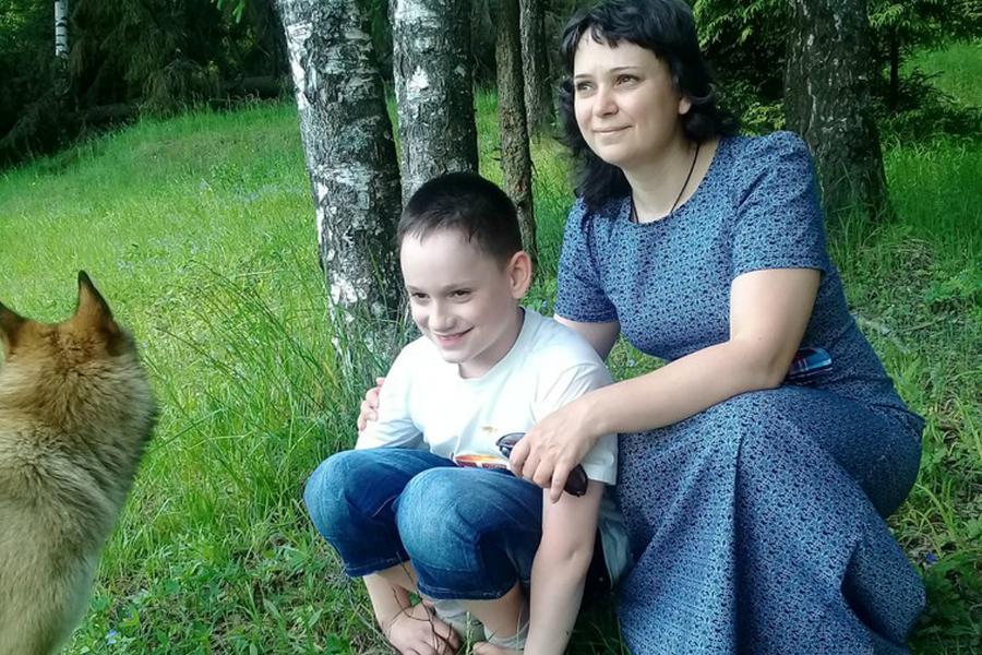 Надежда Тузинайте с сыном Арсением