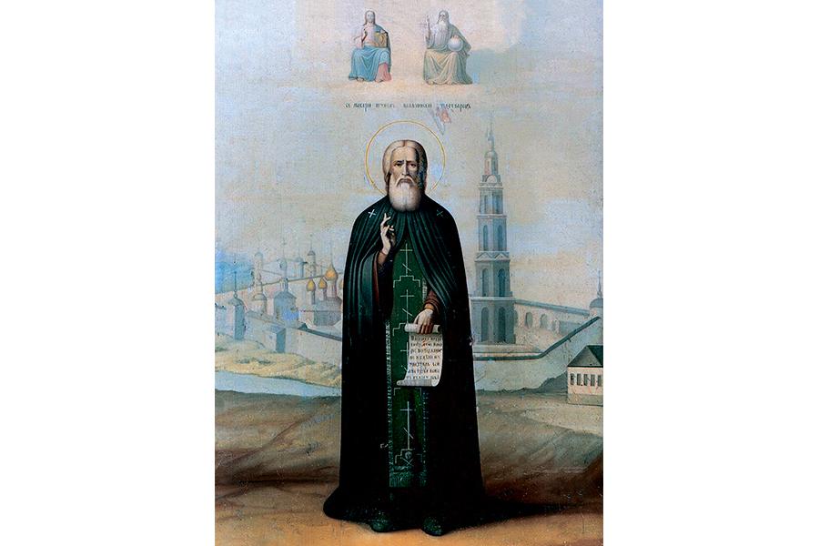 Иконописное изображение преподобного Макария