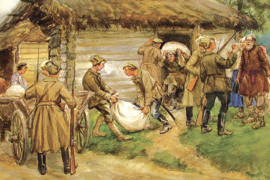 Продразверстка, рисунок Владимирова