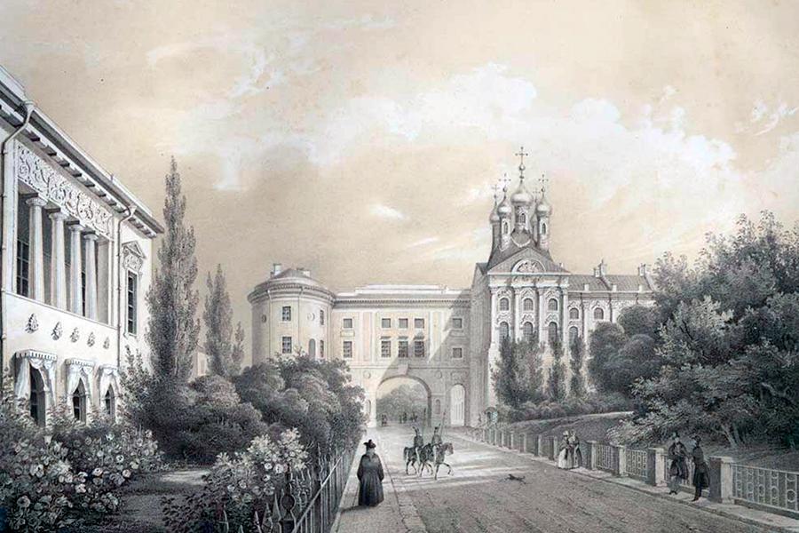Вид на Лицей и Придворную церковь