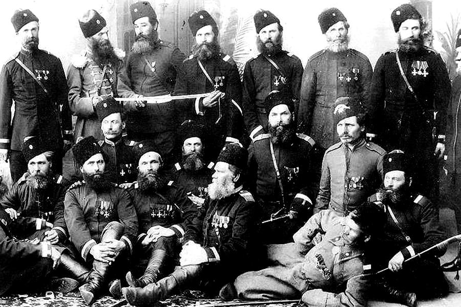 Донские казаки станицы Каменской, ветераны русско-турецкой войны 1877-78 гг.