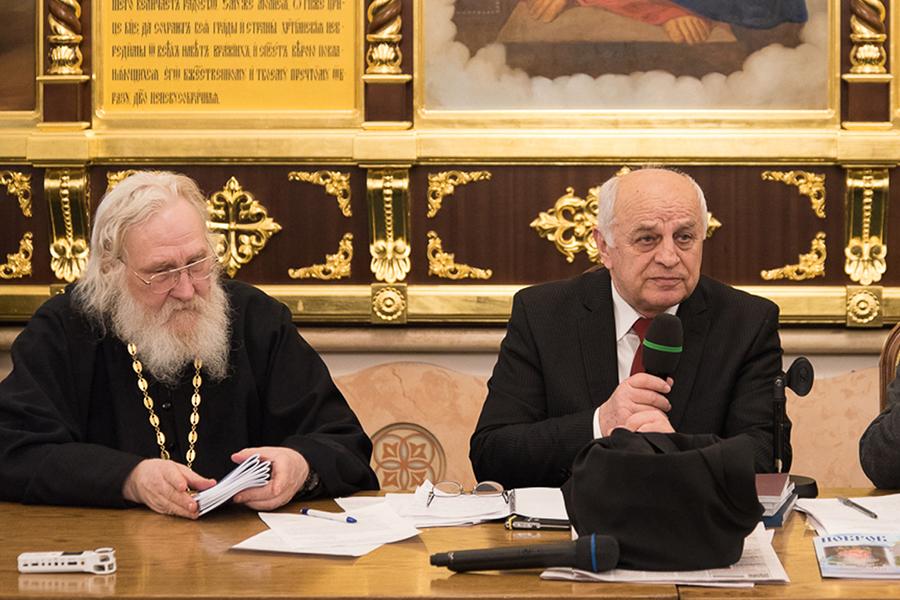Мэр Коницы и игумен Киприан (Ященко)