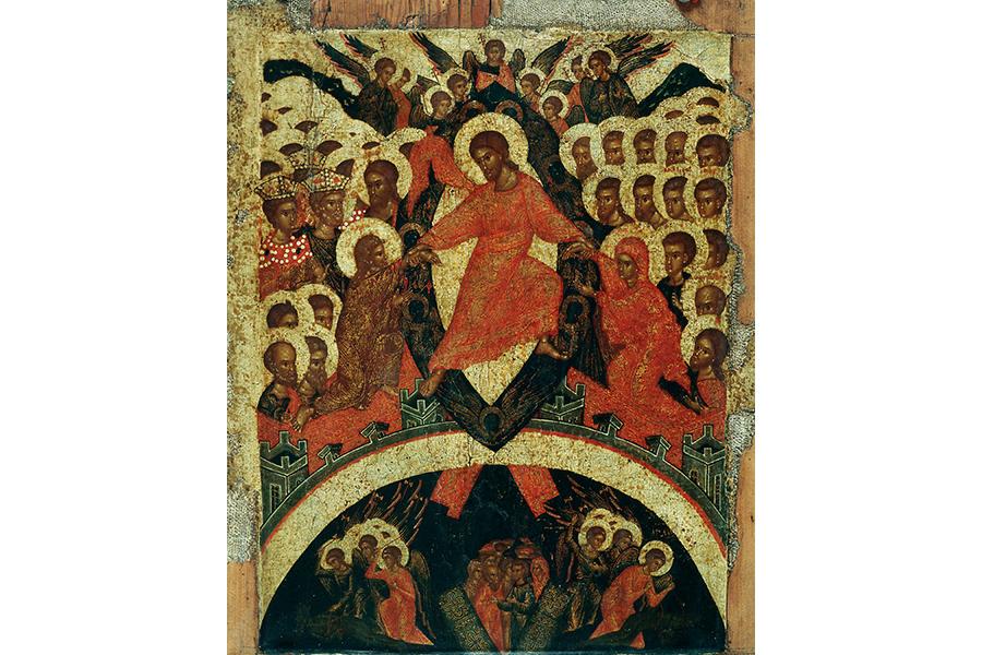 Сошествие во ад, икона 16 века
