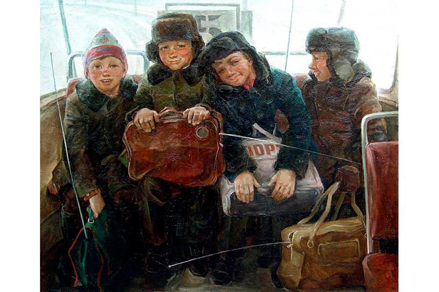 А. Емельянов. Дети с  рапирами, 1985