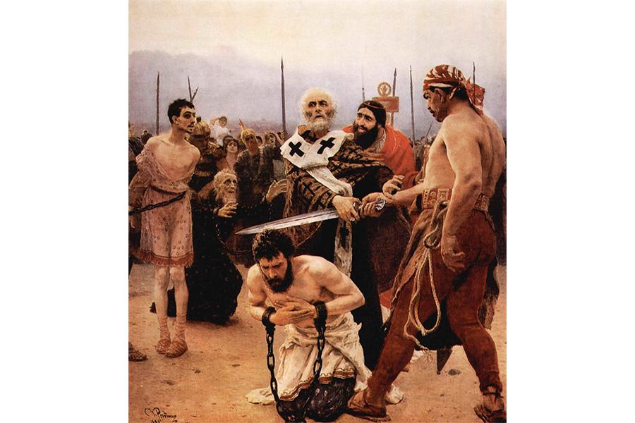 Николай Мирликийский избавляет от смертной казни трех невинно осужденных