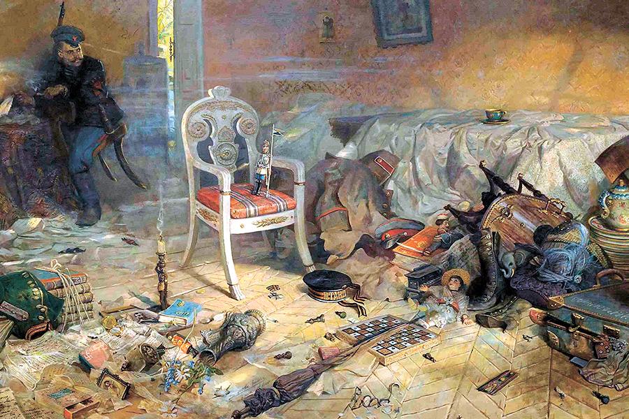 Павел Рыженко. Ипатьевский дом. Расстрел, из триптиха Царская голгофа