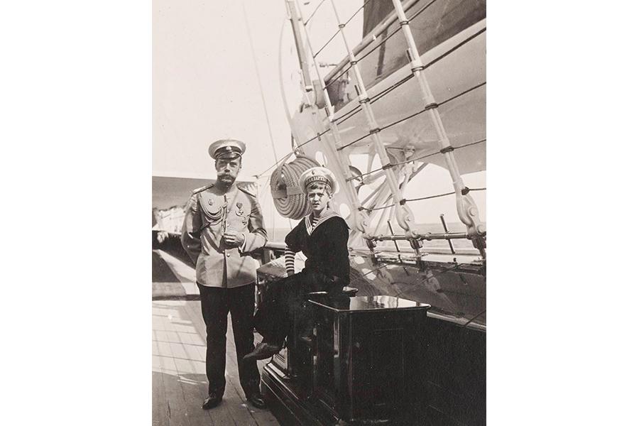 На яхте Штандарт, фотография Анны Вырубовой