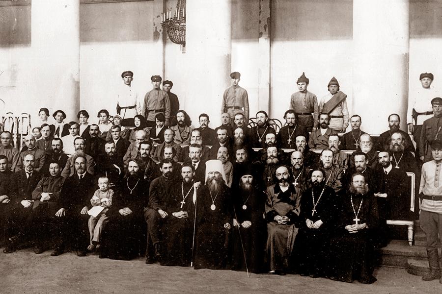 Подсудимые по делу об изъятии церковных ценностей, 1922 г.