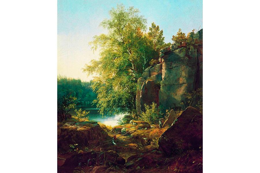 Вид на острове Валааме, картина Ивана Шишкина