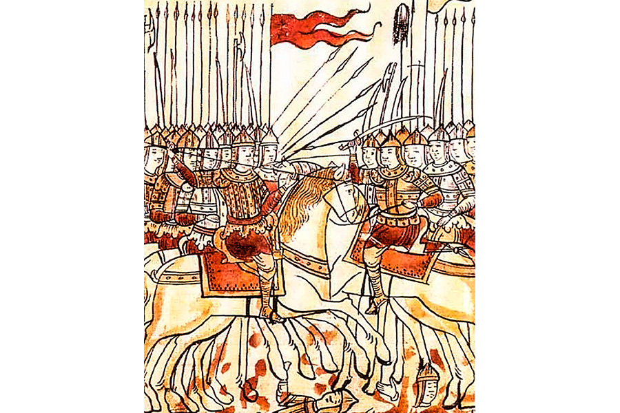 Куликовская битва. Книжная миниатюра