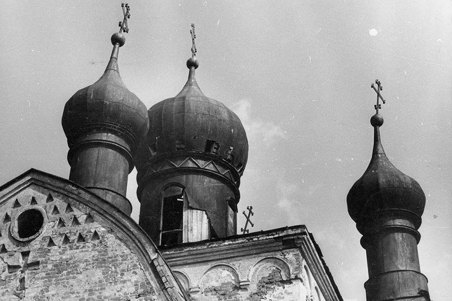 Купола храма в 1979 году