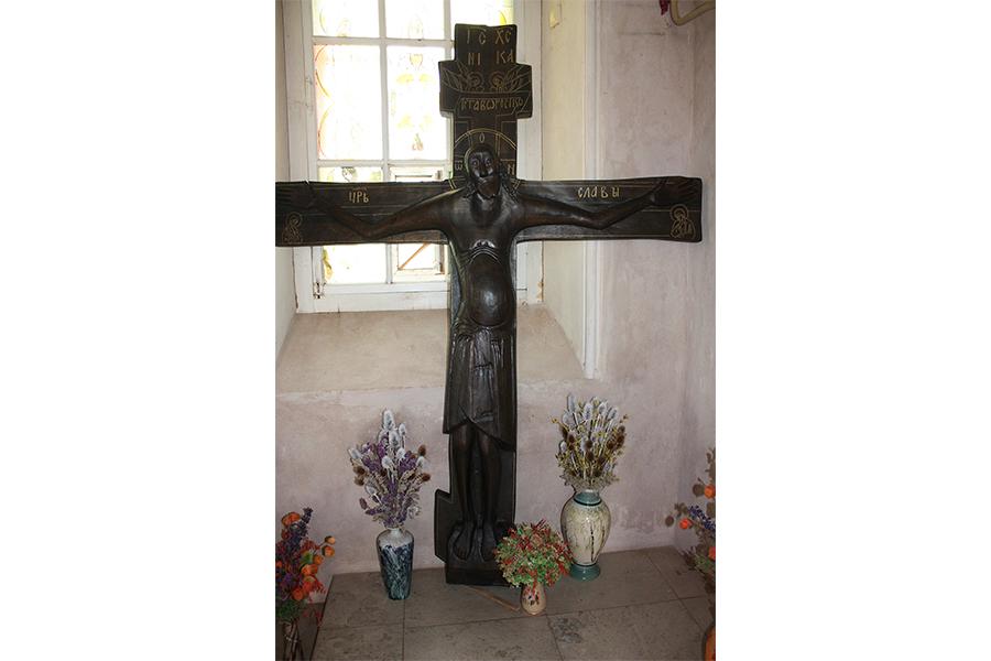 Животворящий Крест Господень в храме в Уницах - точная копия Чудотворного Креста в Годеново