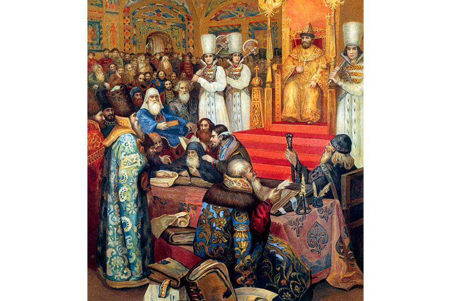 Земский собор 1648 года. С картины Николая Некрасова