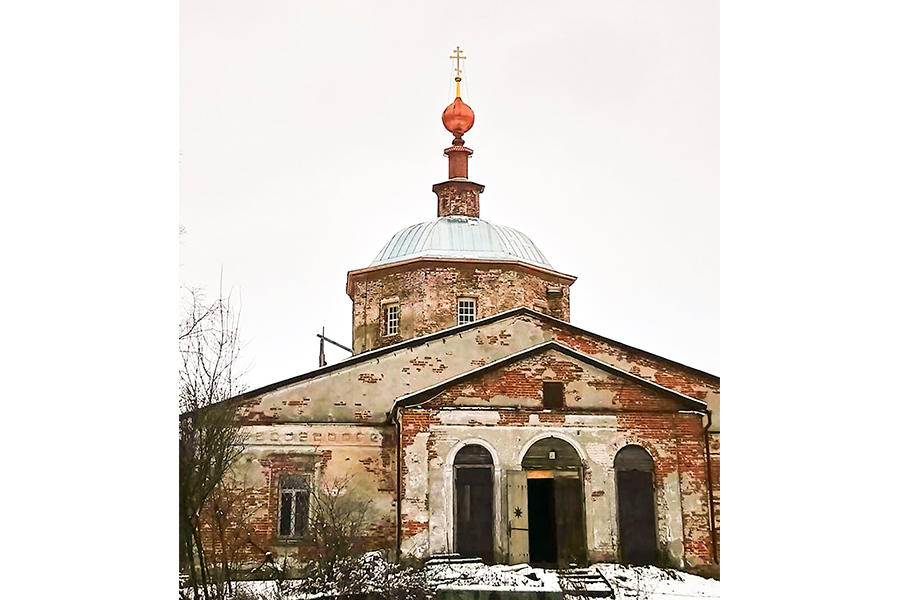Храм в селе Савцыно, ноябрь 2017 г.