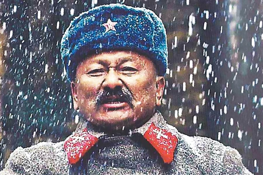 Кадр из фильма Саякбай. Гомер XX века