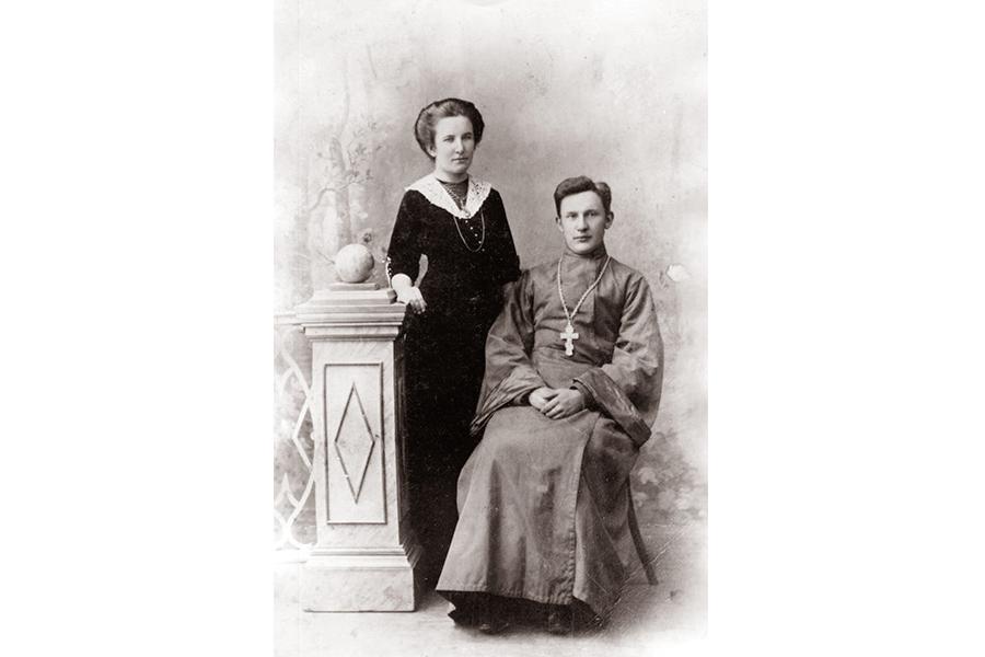 Священник Алексей Алексеевич Москвин с супругой Павлой Николаевной Носовой