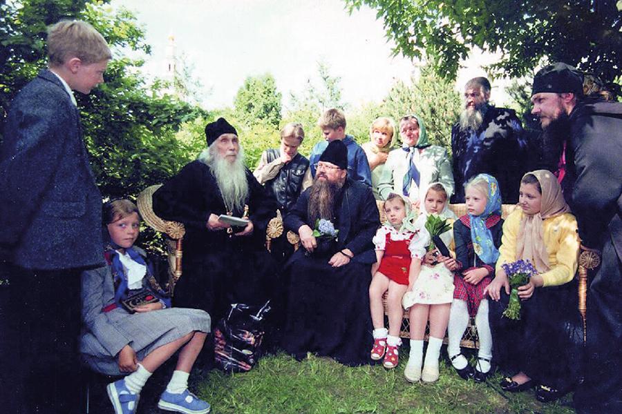 Духовная встреча с отцом Кириллом (Павловым) и наместником Свято-Данилова монастыря отцом Алексием (Поликарповым)