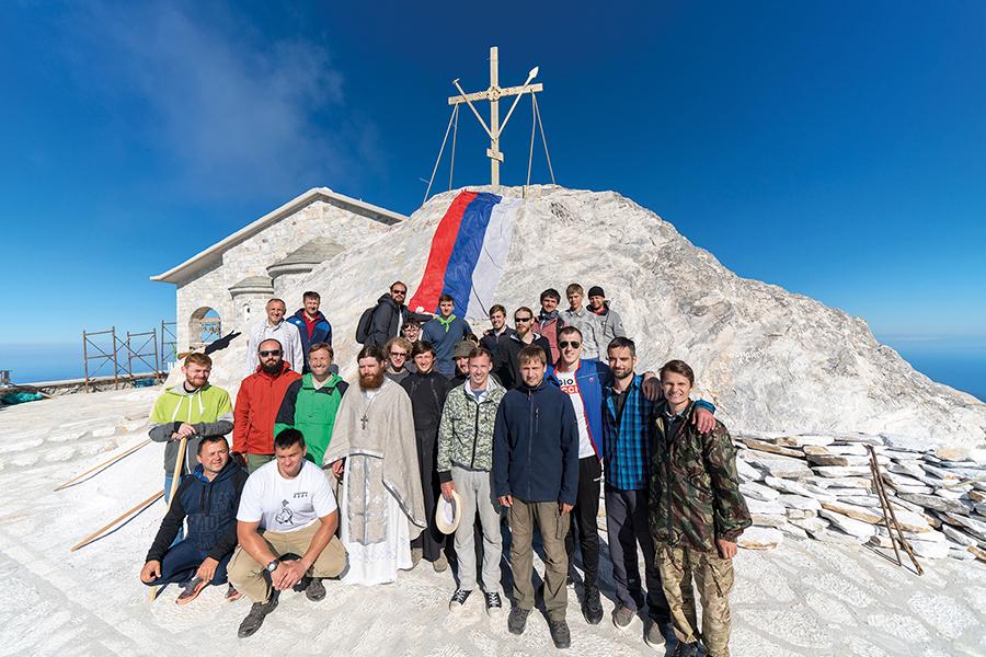 На вершине Святой Горы. Июль 2018 г.