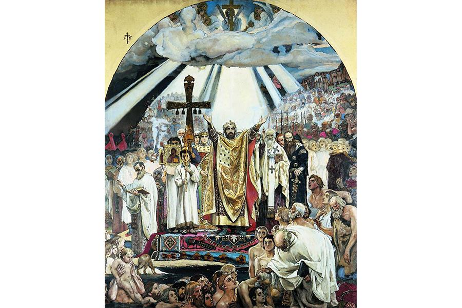 В.М. Васнецов. Крещение Руси. 1890