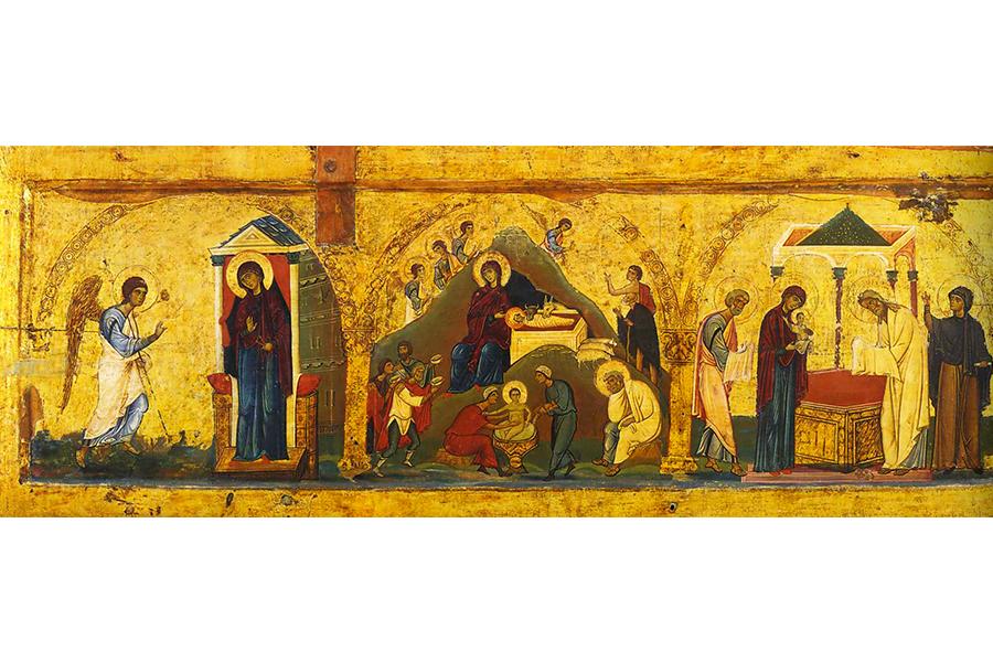Благовещение, Рождество и Сретение. Икона
